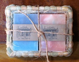 Mini Basket for two small soaps.