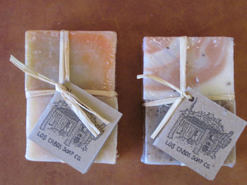 Bolsa Celofan: 2 small bars of Desert Soaps  packed in a pleasing clear wrap.