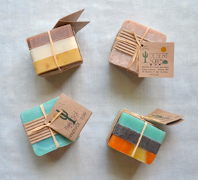 Triple Soap Pack: 3 bars of variously colored and scented soaps.
